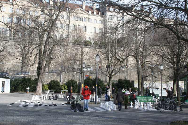 Женева зимой place neuve Фо�о